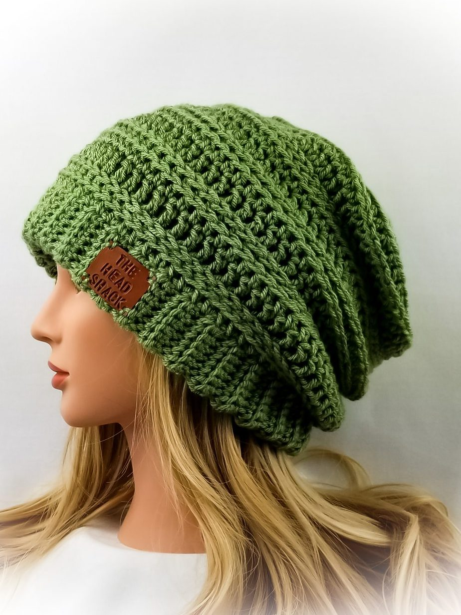 sage green slouch hat